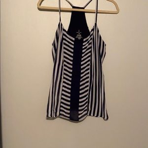 Navy and white Striped tank top
